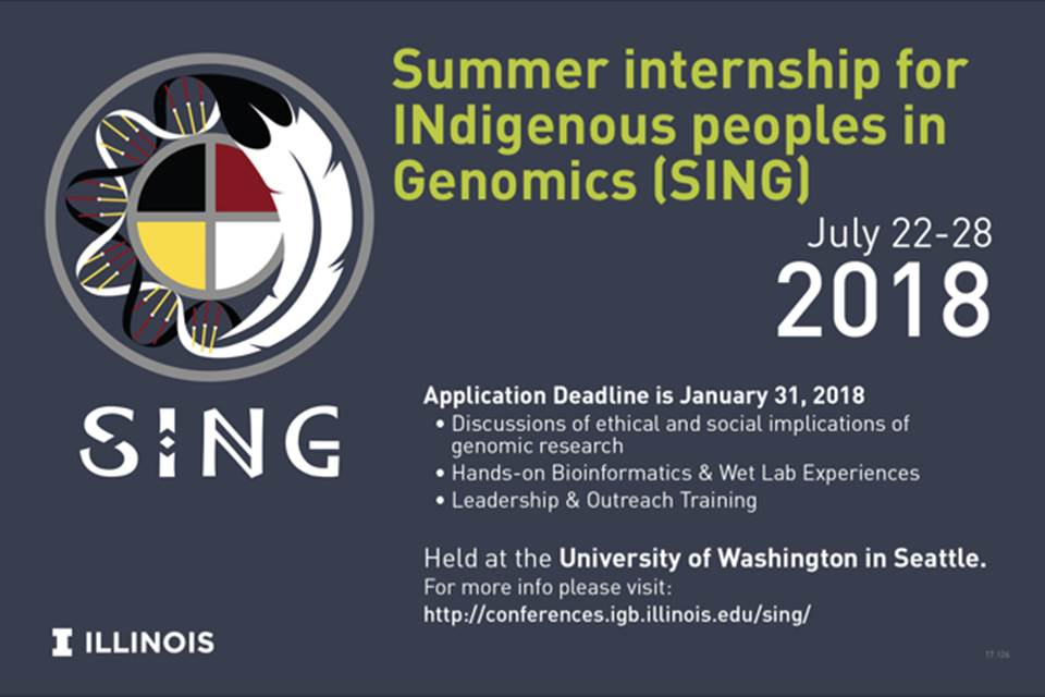 Summer Internship for Indigenous Peoples in Genomics