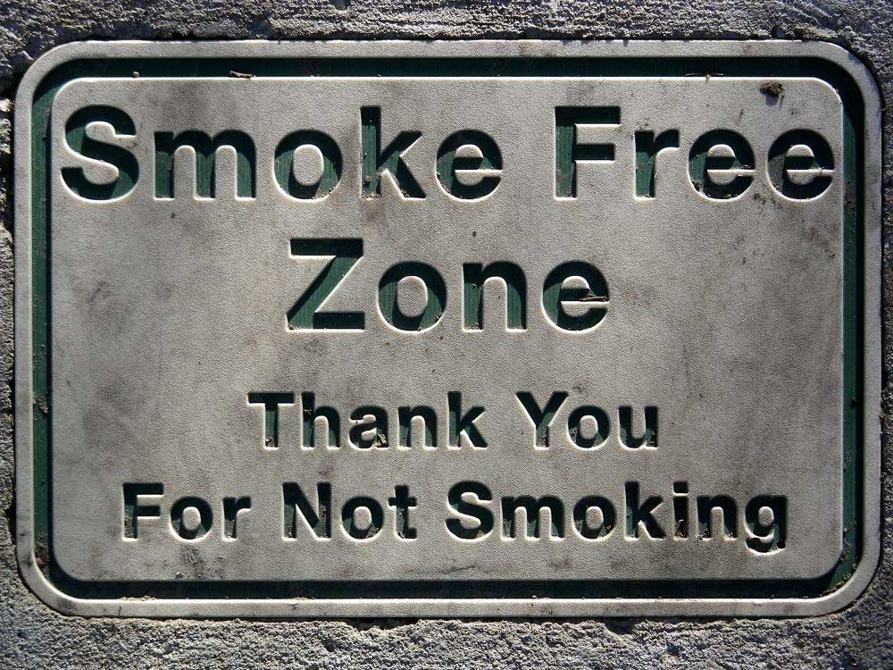 Smoke Free Zone – Thank You for Not Smoking